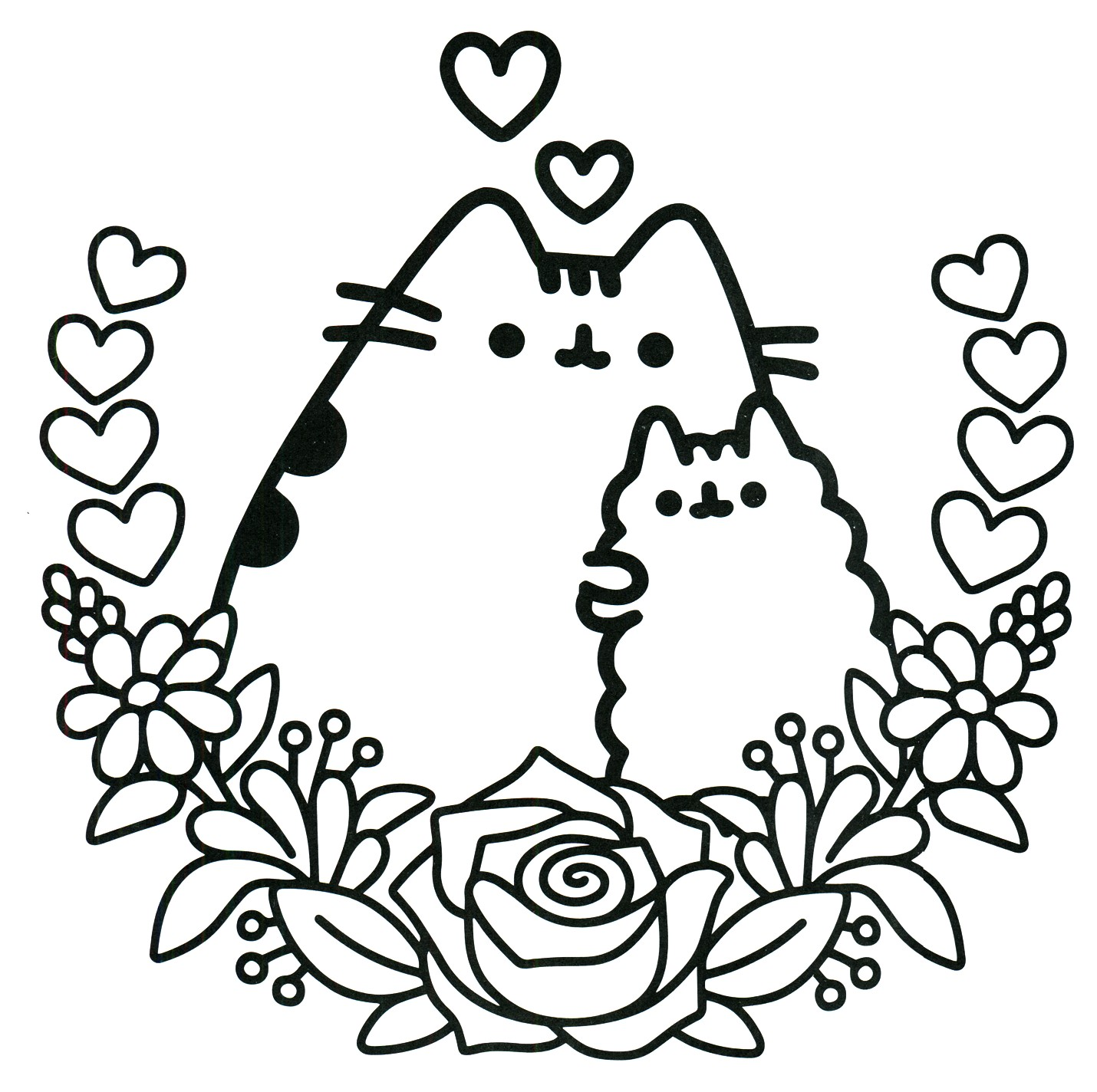 1430x1424 Unicorn Coloring Pages Rainbow New Kawaii Cat Unicorn Coloring