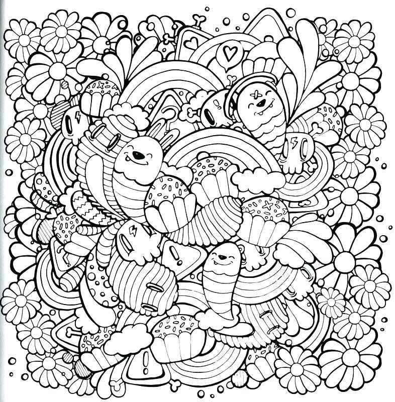 786x800 Kawaii Coloring Pages Printable