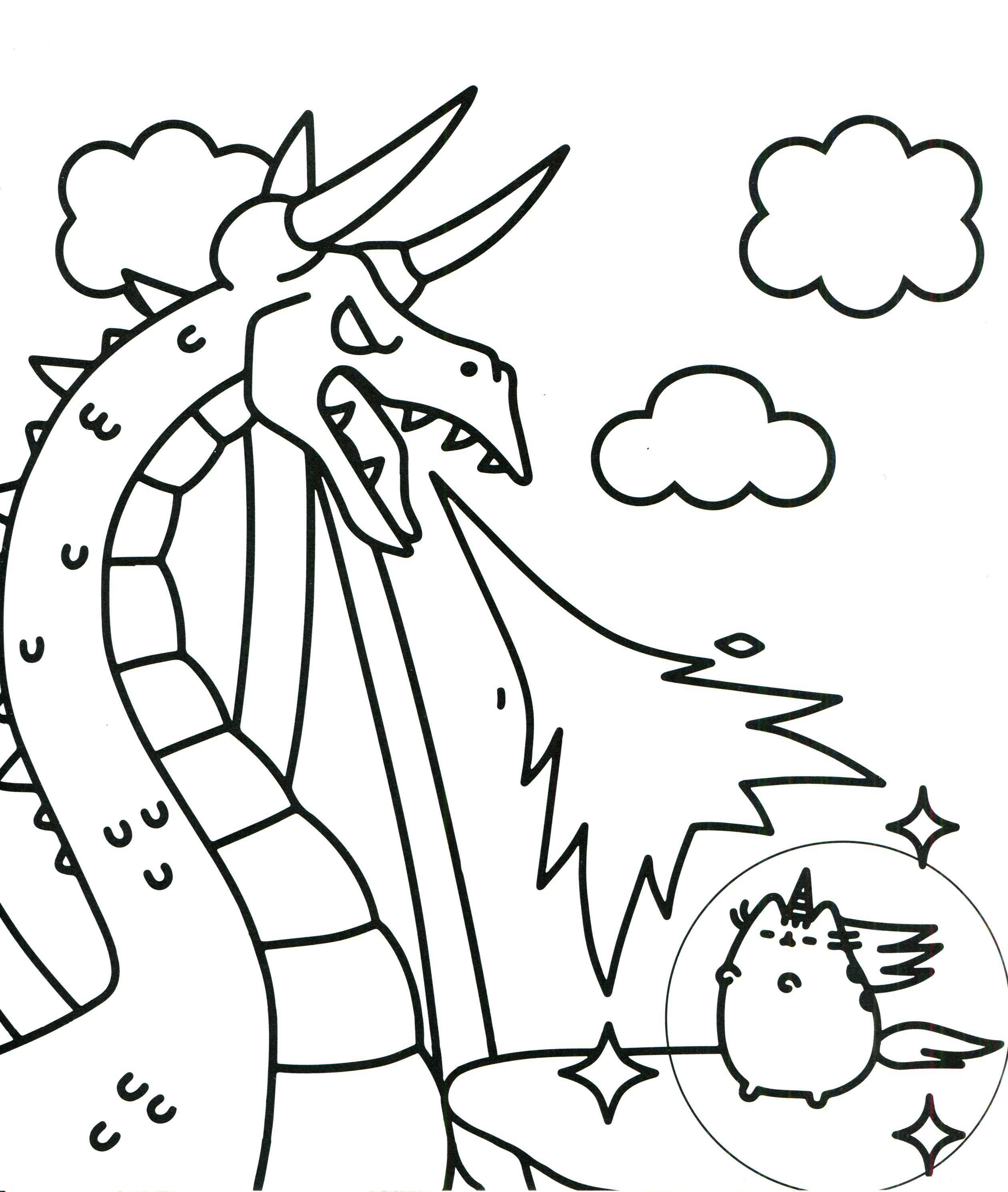 2520x2981 Cute Unicorn Coloring Pages To Print Fresh Kawaii Cat Unicorn