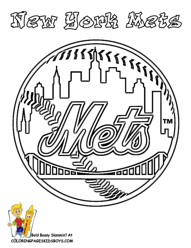 736x952 Baseball Teams Coloring Pages