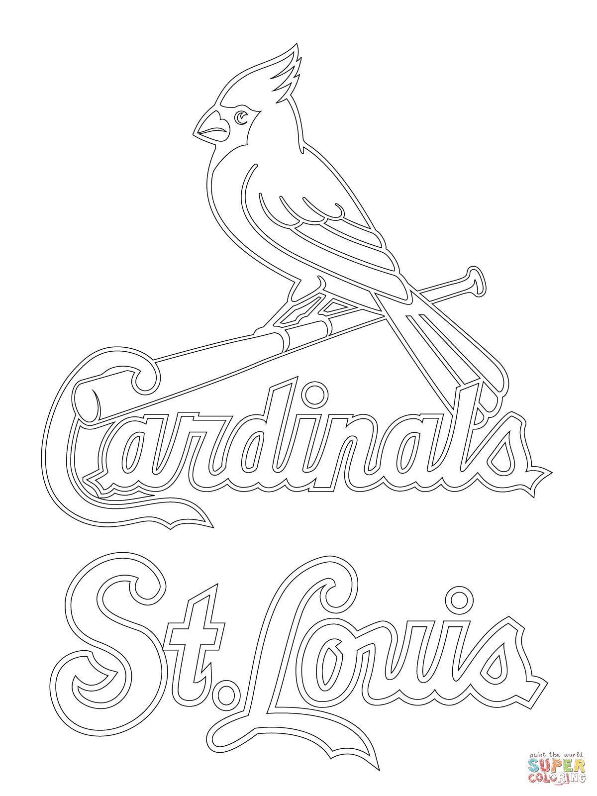1200x1600 St Louis Cardinals Logo Coloring Page Diy