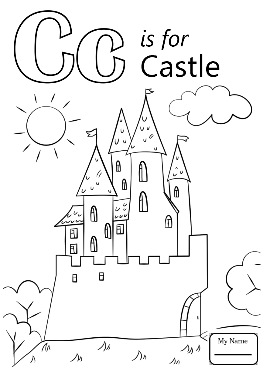 866x1224 C Coloring Pages Letter Is For Car Letters And Alphabet Throughout