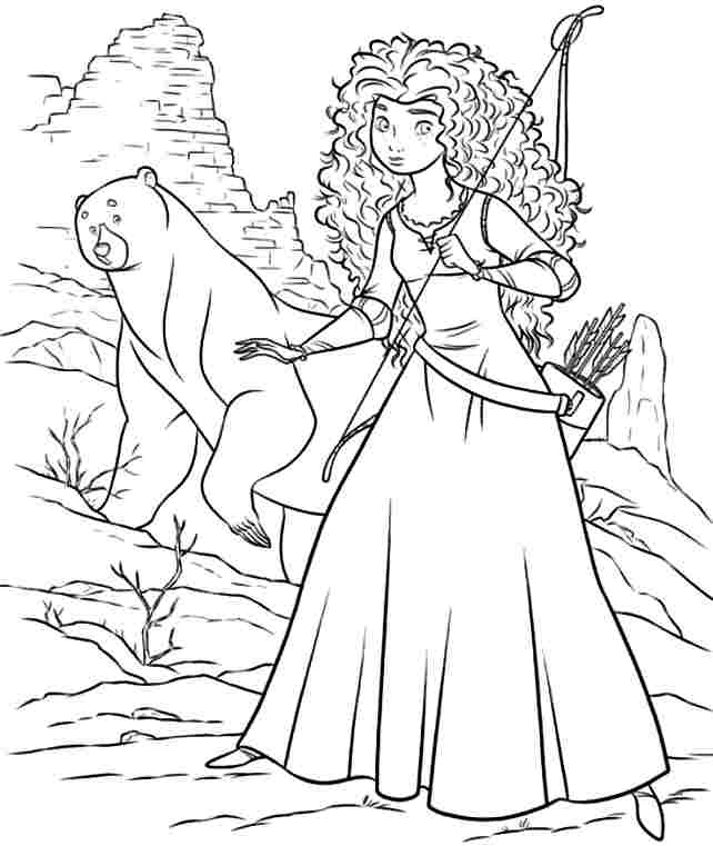 642x761 Coloring Pages Brave, Best Images Of Disney Brave Printable