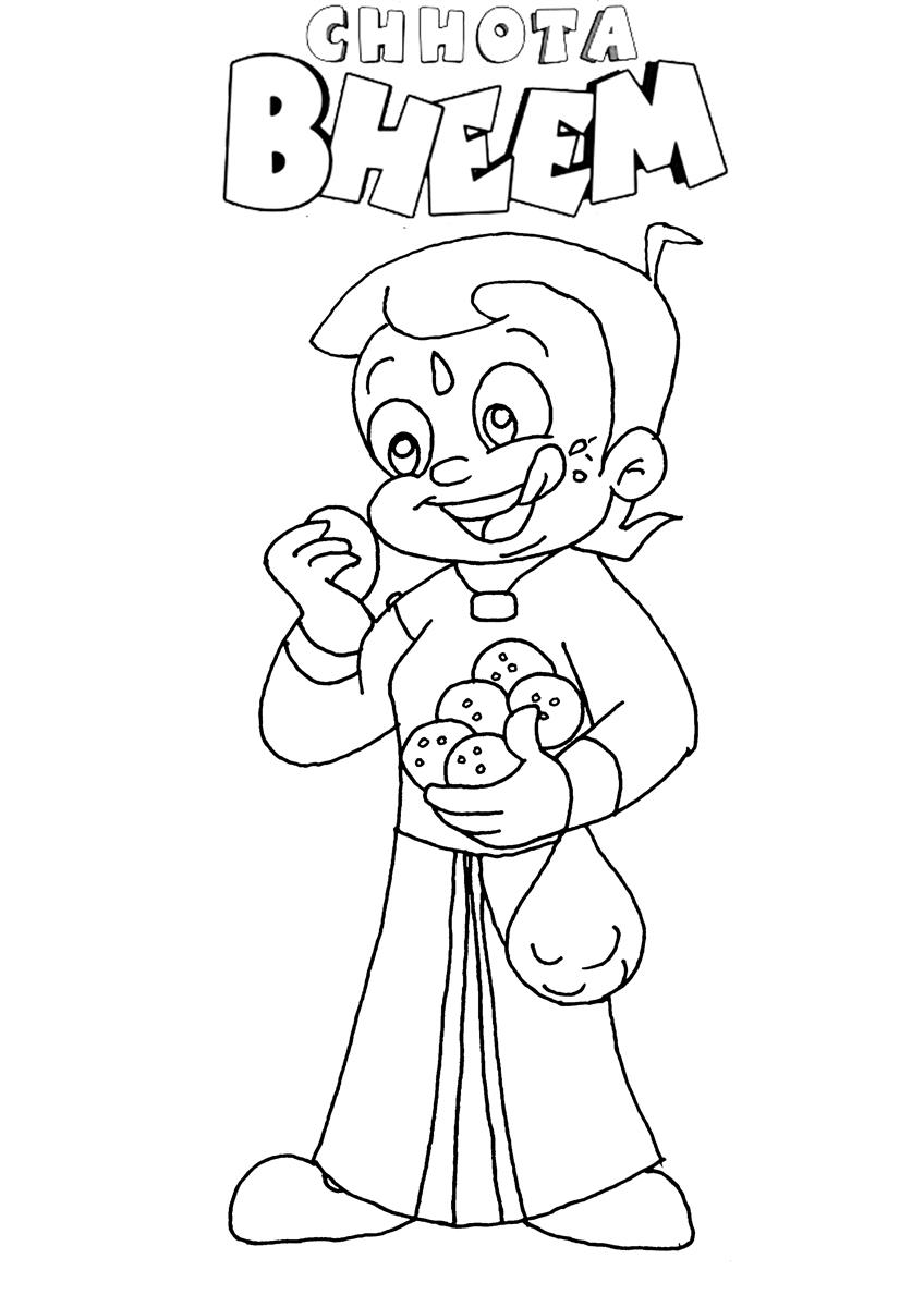 848x1200 Free Chota Bheem Coloring Pages