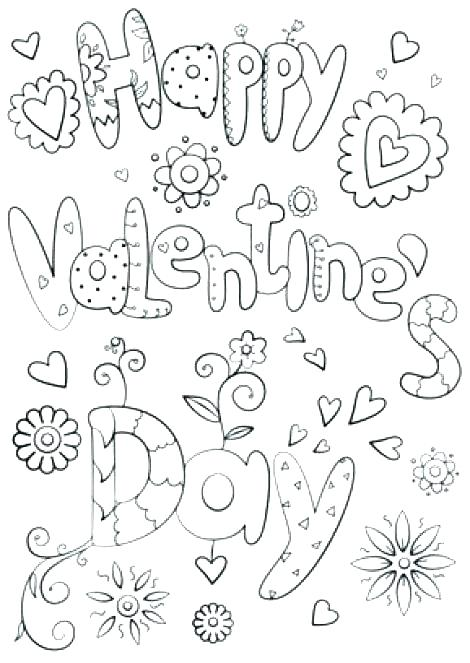 470x663 Valentines Day Coloring Book Printable Valentines Day Coloring