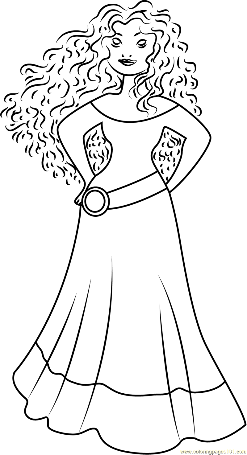 800x1476 Princess Merida Brave Coloring Pages