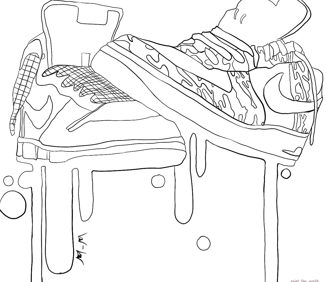 1249x1080 Kd Nikehoes Coloring Pages Air Max Page Apparel Onneakers Michael