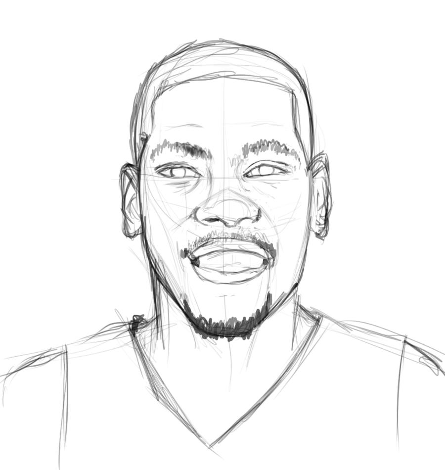 900x950 Kd Outline With Kevin Durant Coloring Pages