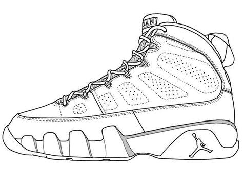476x333 Nba Shoes Coloring Sheets Page Image Clipart Images