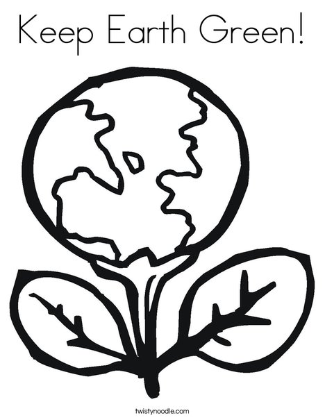 468x605 Keep Earth Green Coloring Page