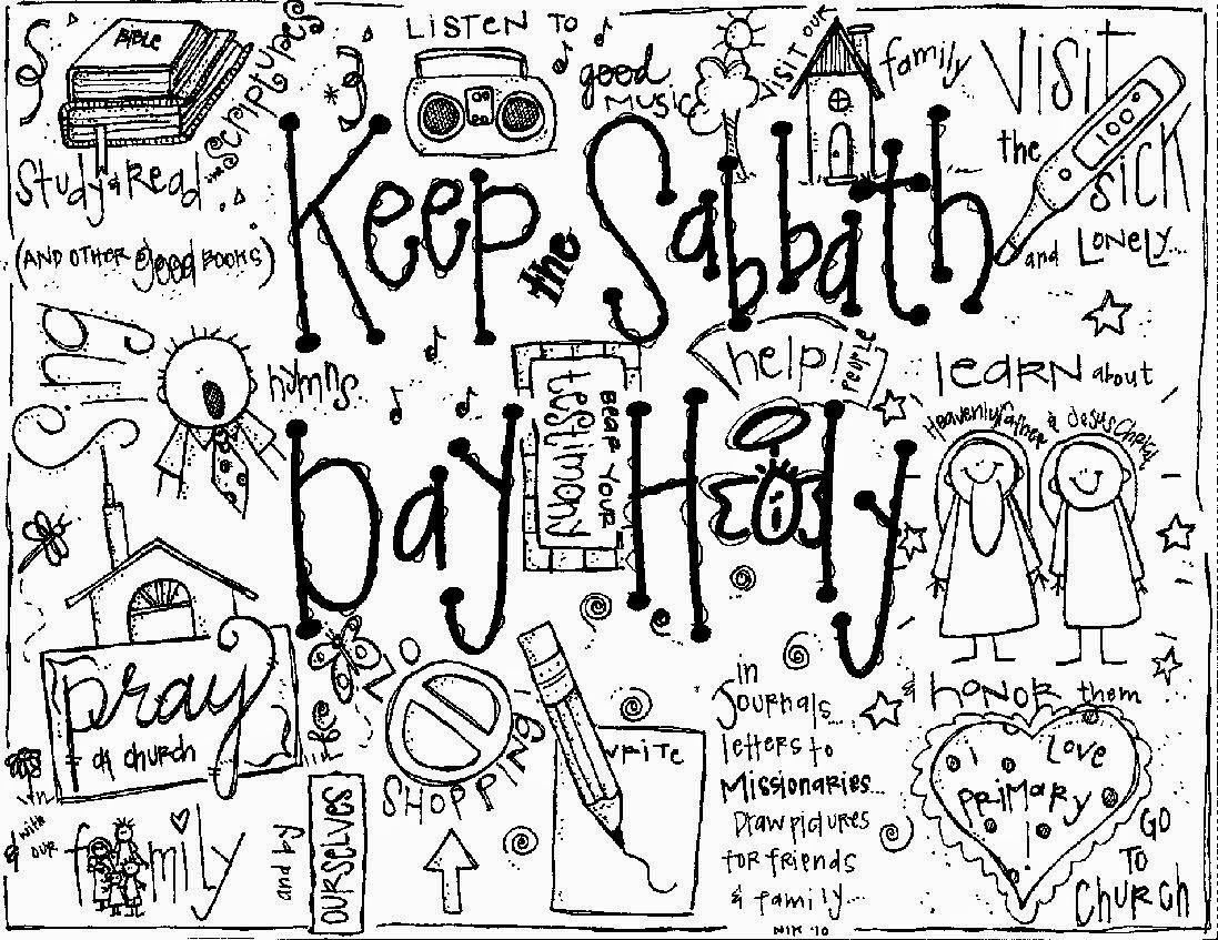 1097x847 Melonheadz Lds Illustrating Keep The Sabbath Day Holy