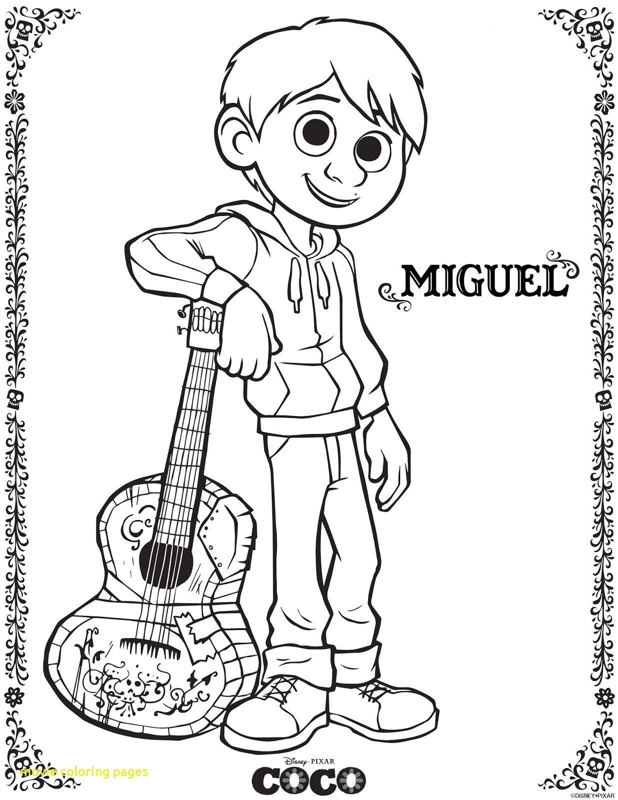 1237x1600 Movie Coloring Pages With Be Brave Keep Going Free Printable Coco