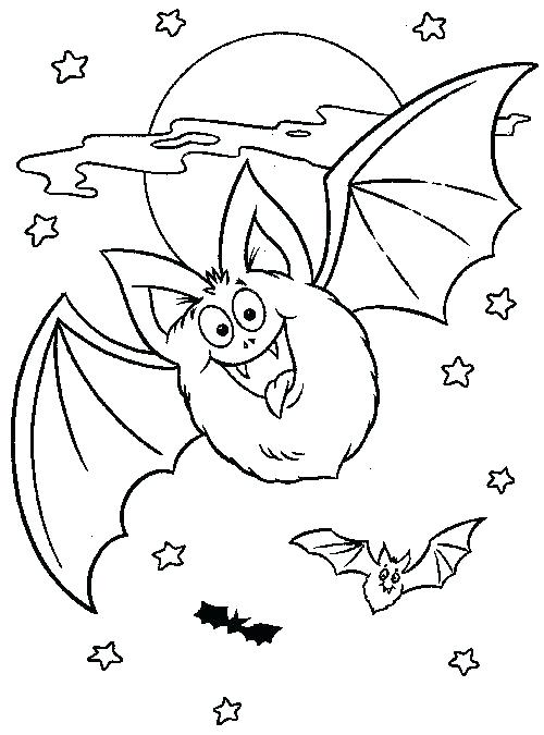500x675 Halloween Bats Coloring Pages Print Out Our Free Bat Coloring Page