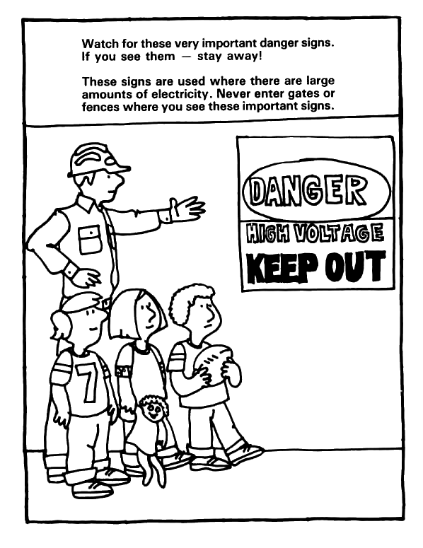 598x775 Electrical Safety Coloring Page