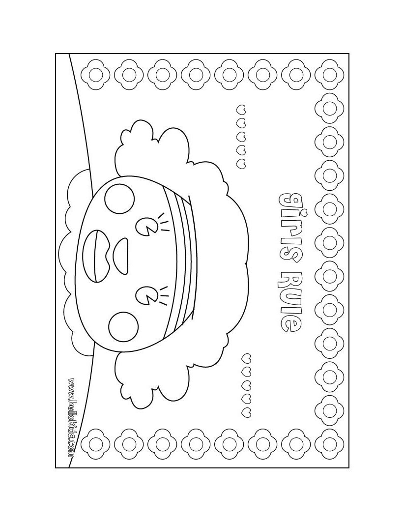 820x1060 Girl's Room Door Sign Coloring Pages