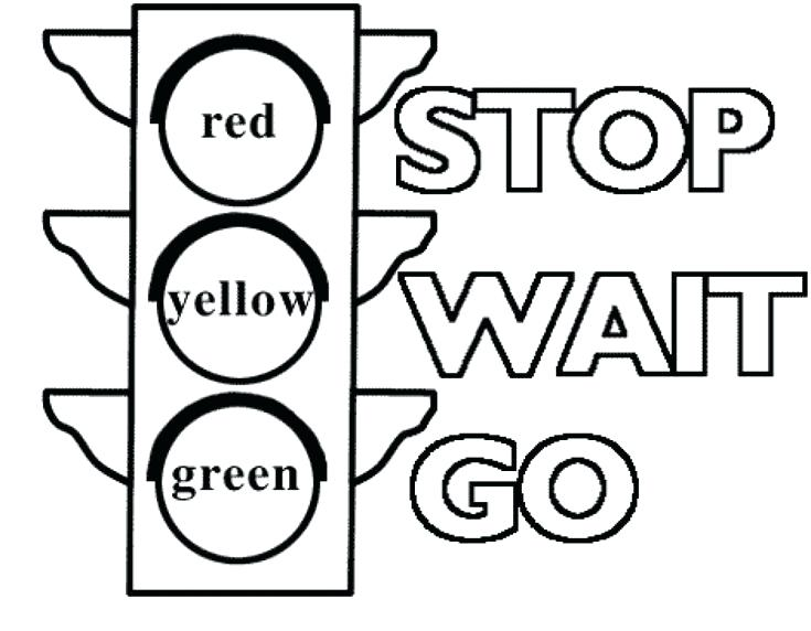 735x572 Printable Construction Signs Traffic Light Signs Coloring Pages