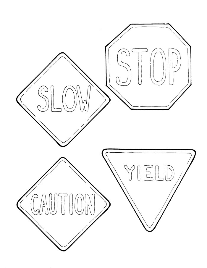 700x906 Road Sign Coloring Pages
