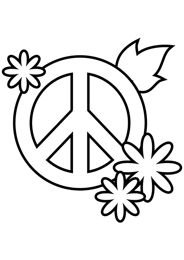 595x842 Simple And Attractive Free Printable Peace Sign Coloring Pages