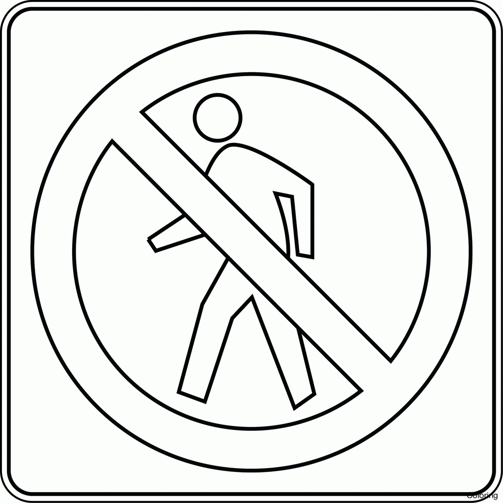 1024x1024 Unique Traffic Signs Coloring Pages Design Printable Coloring Sheet