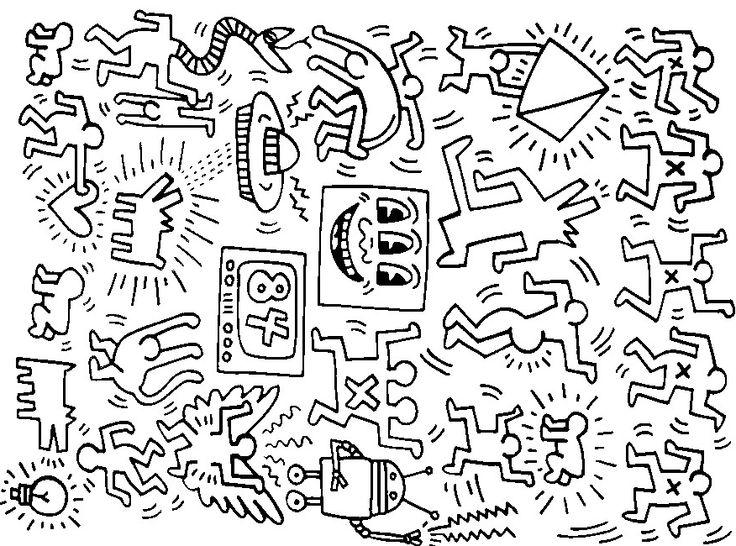 keith haring drawing at getdrawings  free download