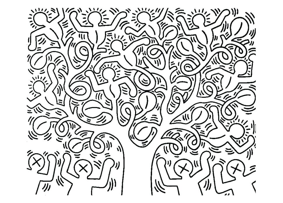 Keith Haring Coloring Pages At Getdrawings Free Download