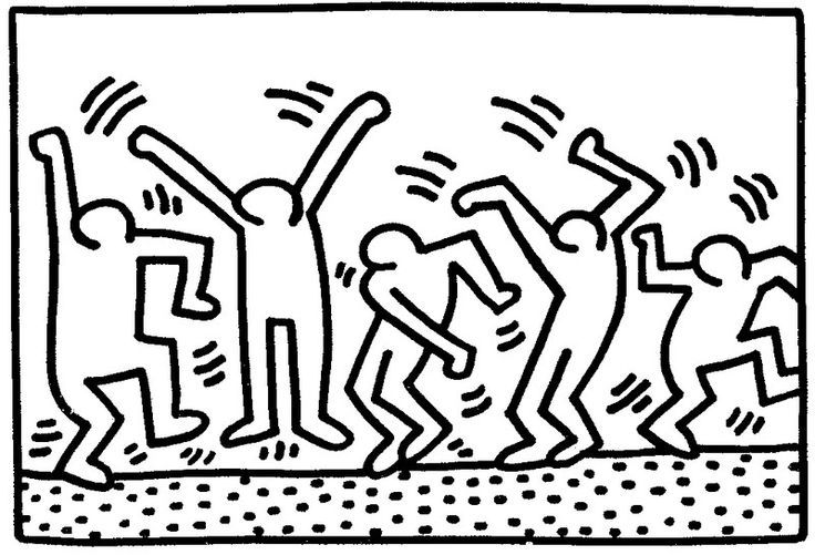 Keith Haring Coloring Pages At Getdrawings Com Free For Personal