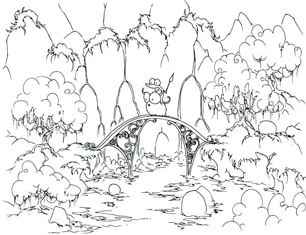600x461 Forest Coloring Sheets Coloring Pages For Kids Collection