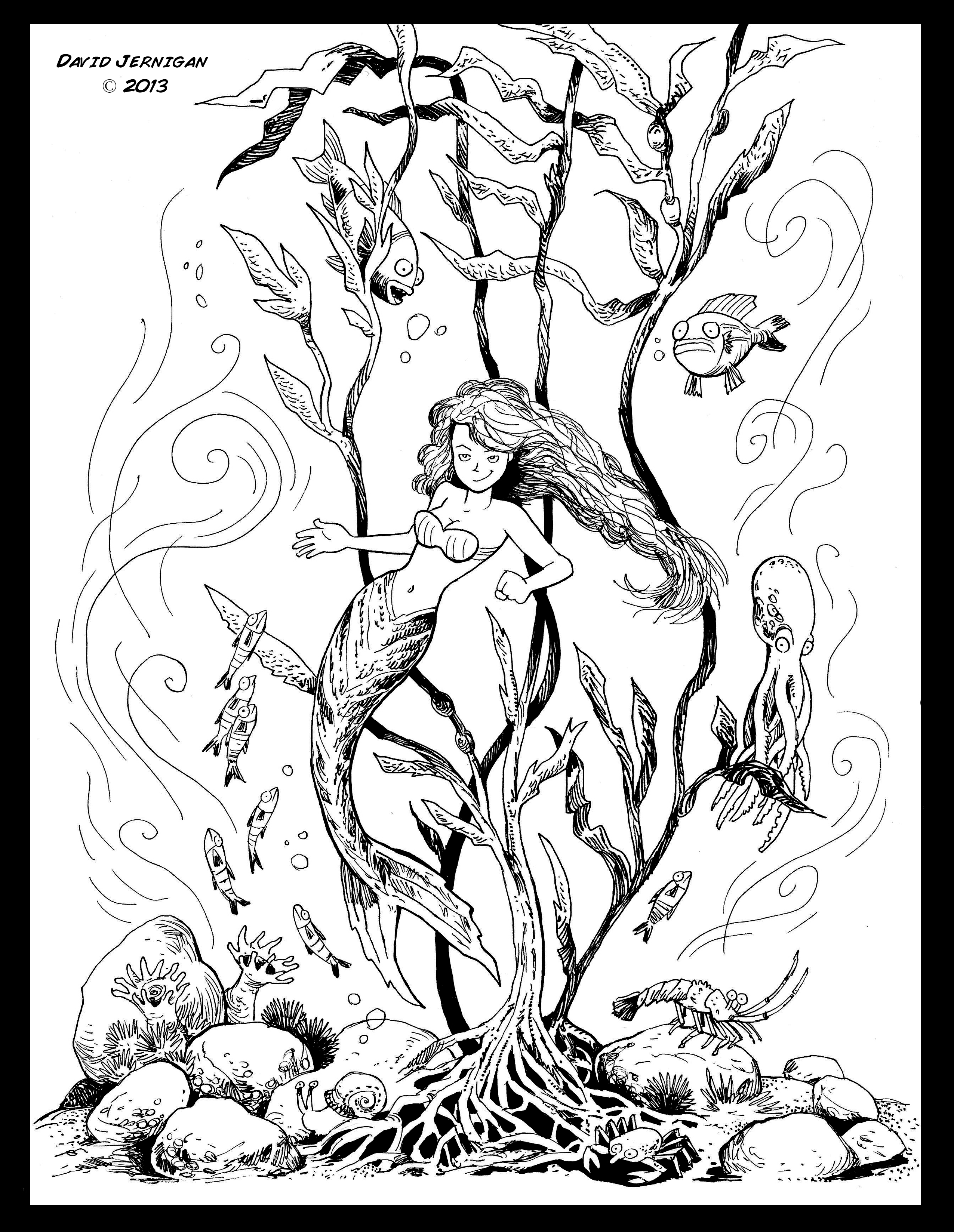 2552x3296 Kelp Forest Drawing