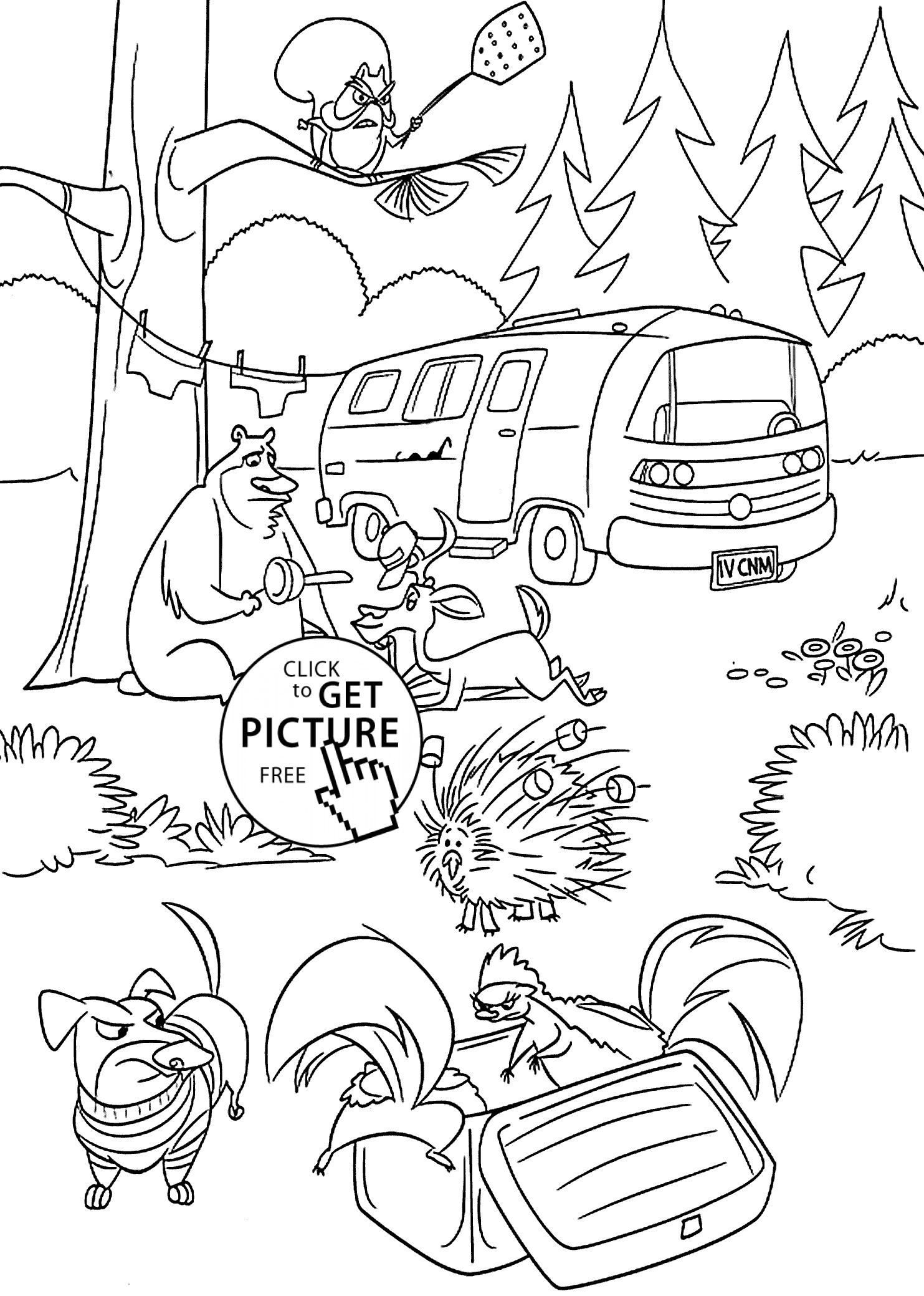 1483x2079 Temperate Rainforest Coloring Pages