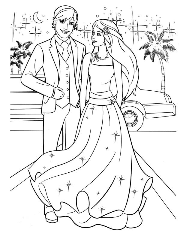 600x776 Barbie Birthday Coloring Pages Elegant Barbie And Ken Coloring