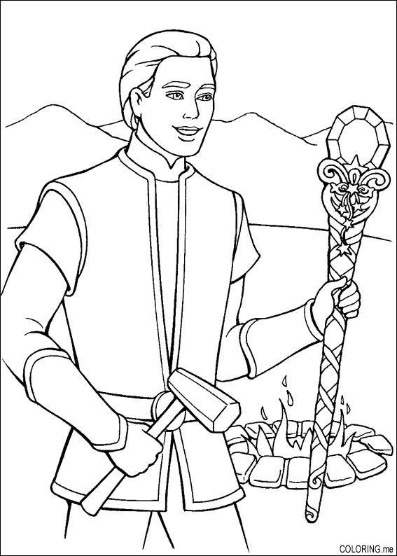 567x794 Coloring Page Barbie Magic Pegasus Ken Magic Wand