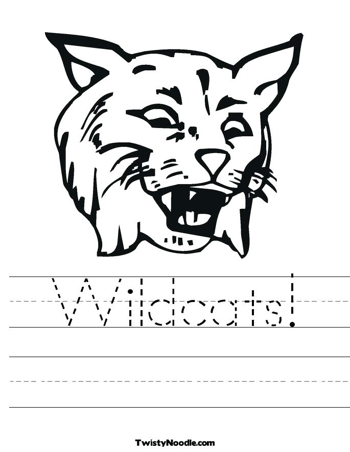 685x886 Wildcat Coloring Page Wildcats Coloring Pages Gallery Wildcat