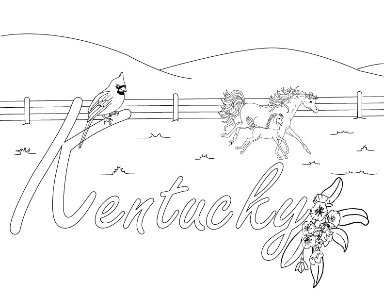 792x612 Best Photos Of Kentucky Coloring Sheets