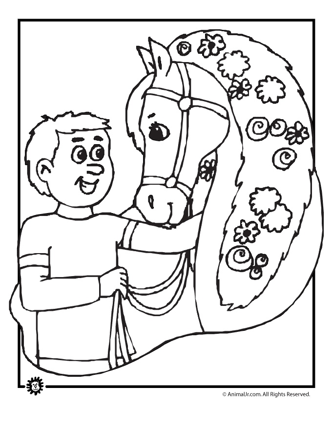Kentucky Derby Coloring Pages Printables
