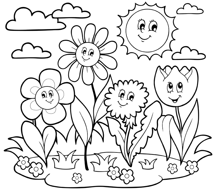 741x660 Free Printable May Coloring Pages