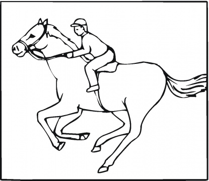 415x360 Hd Wallpapers Kentucky Derby Coloring Pages