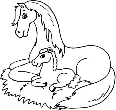 450x426 Horse Coloring Pages Printable Horse Jumping Colouring Pages Horse