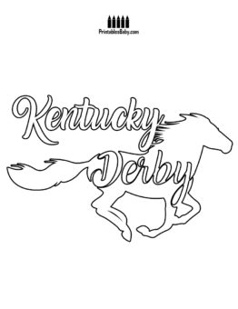 photograph regarding Printable Kentucky Derby Field identify Kentucky Derby Coloring Webpages Printables at