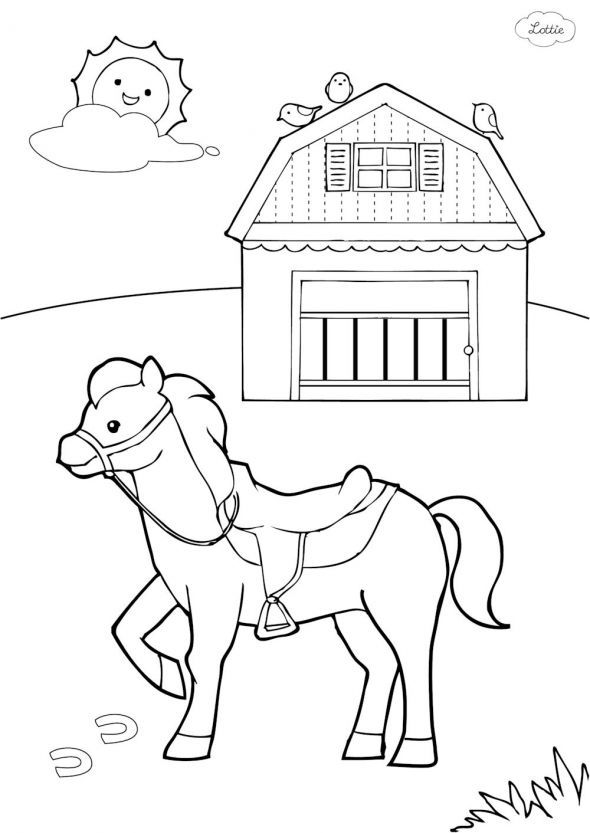 590x833 To Draw A Horse On A Birthday Cake