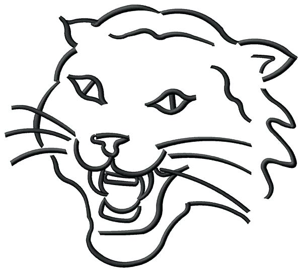 600x541 Wildcat Coloring Page Pics Of Free Wildcat Coloring Pages