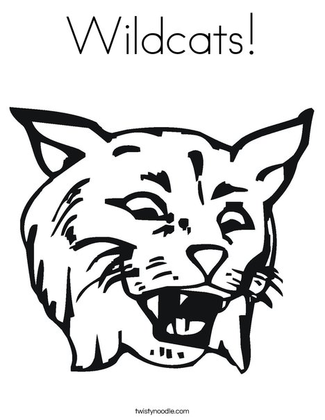 468x605 Wildcats Coloring Page