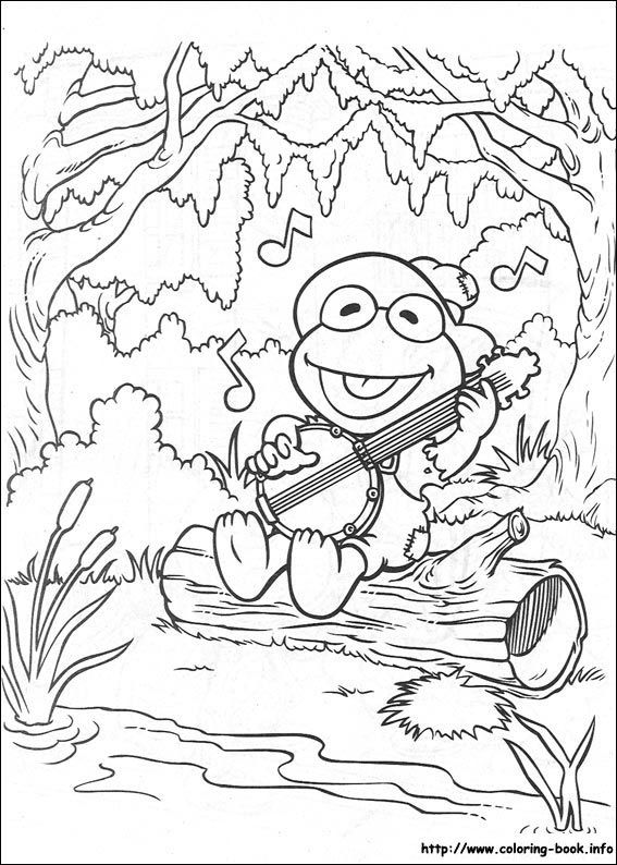 Kermit Coloring Pages
