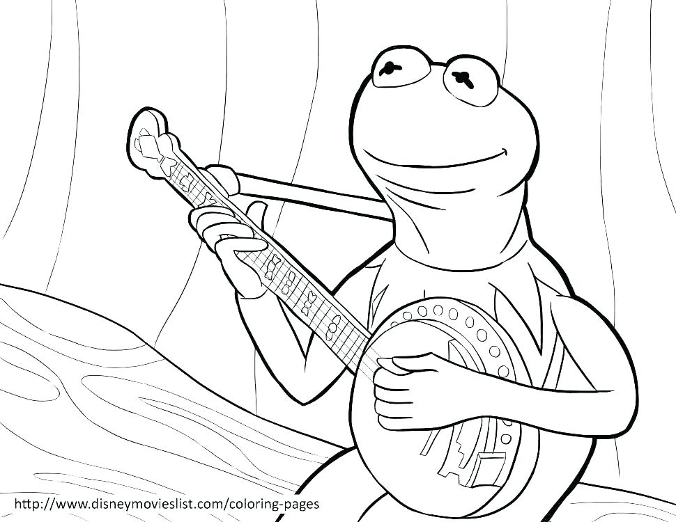 970x750 Kermit Coloring Pages Good Coloring Page Image Pages Print