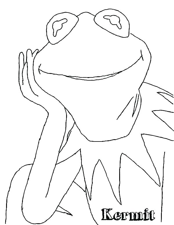 Kermit The Frog Coloring Page