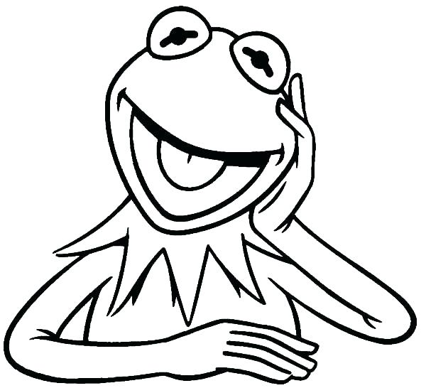 600x546 Kermit Coloring Pages The Frog Coloring Pages Printable Piggy Pig