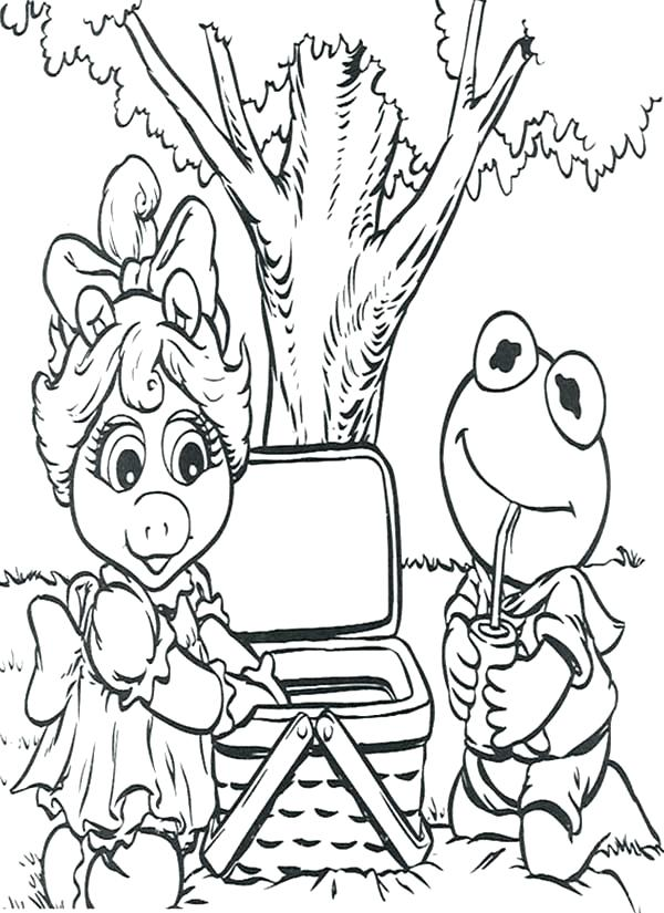600x825 Kermit Coloring Page Coloring Pages The Frog Coloring Pages