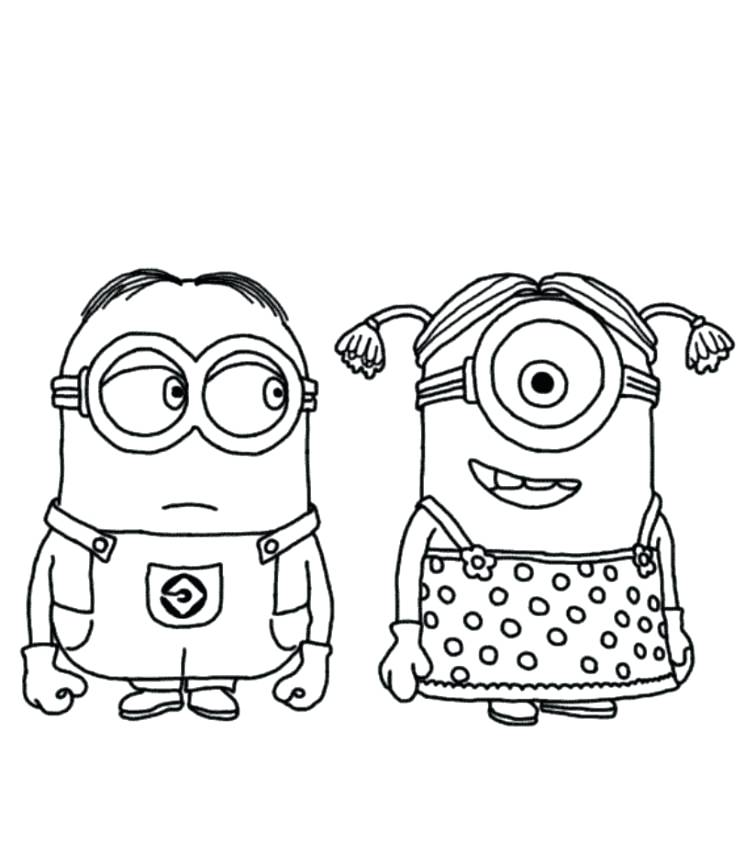756x864 Minion Coloring Pages Despicable Me Minion Coloring Pages Minion