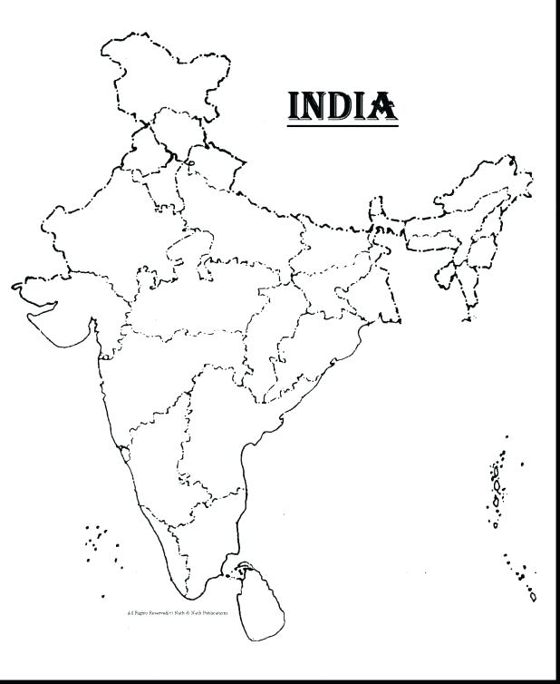618x754 India Map Colouring Pages Key Coloring Page Packed With Terrific