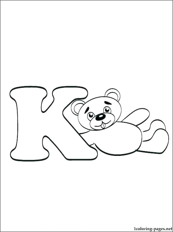 560x750 Key Coloring Pages K Coloring Page K Coloring Page Uppercase