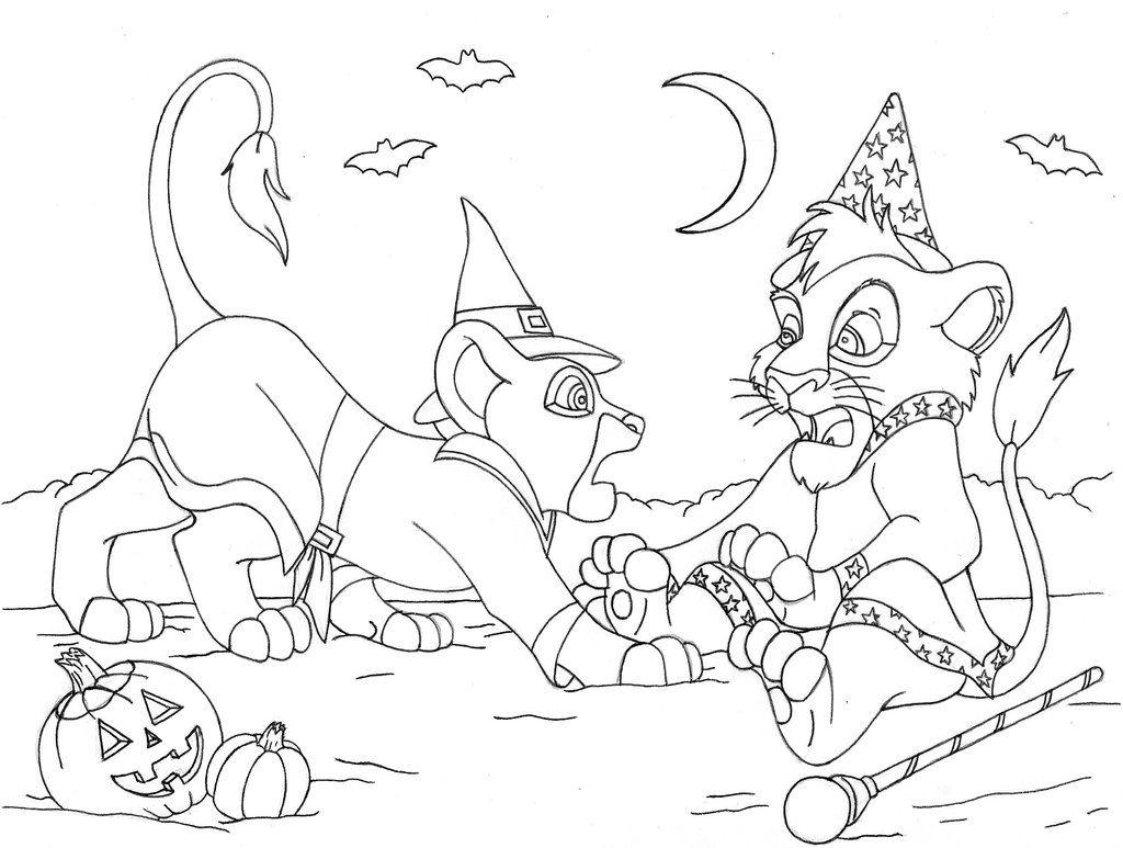 1024x773 Kiara And Kovu Halloween Coloring Page
